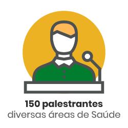 Ícone - 150 palestrantes de diversas áreas de saúde